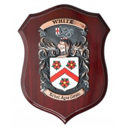 "Handpainted Single Family Crest Shield - (Large 9"" x 13"")"