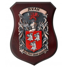 "Handpainted Single Family Crest Shield - (Regular 5"" x 7"")"