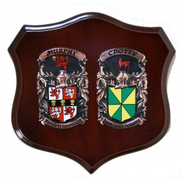 "Handpainted Double Family Crest Shield (Regular 12""x12"")"